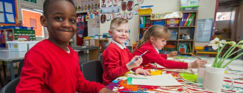 Wharton Primary School students