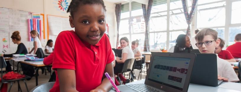 Wharton Primary School student